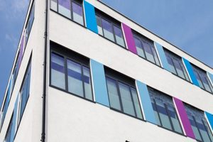 Salisbury Sixth Form College - Apple Orchard Construction Project - Exterior Facade Panels
