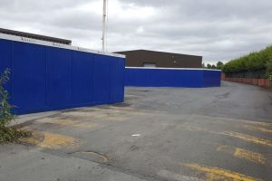Carriaglea Industrial Estate Site Setup and Hoarding (2)