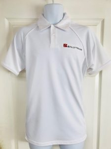 Ballytrain White Polo Shirt