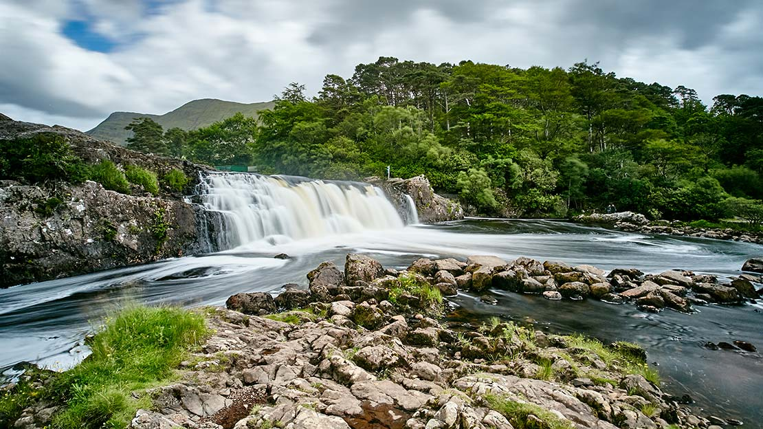 Assleigh waterfall ,Mountain Ways Ireland - Walking Holidays in Ireland: 9 of The Best Routes - The Connemara and Western Way
