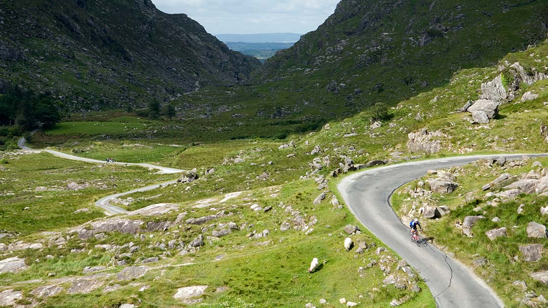 Winding narrow road in a high rrocky mountain passMountain Ways Ireland - Walking Holidays in Ireland: 9 of The Best Routes - The Kerry Way