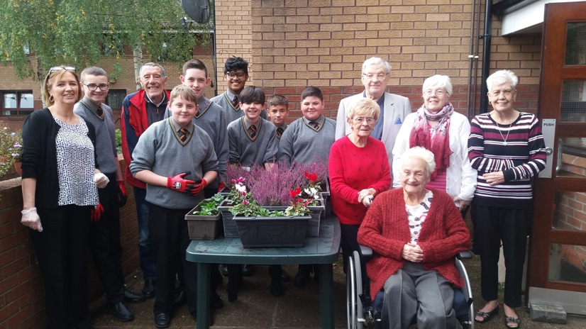 The Eco Club with some of the Ballydown Court residents