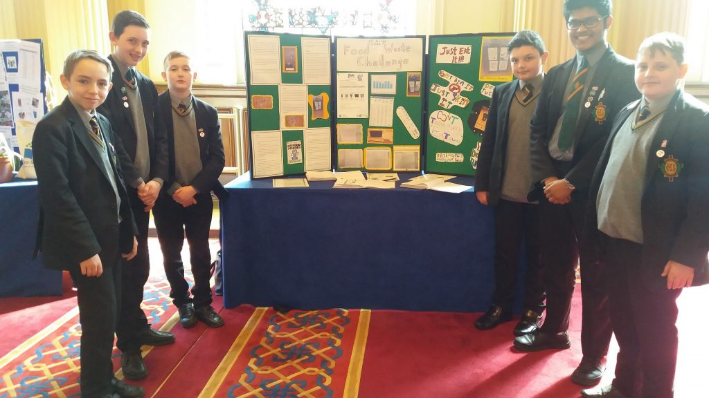 Pupils at the exhibition