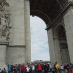 French language pupils at Arc de Triomphe