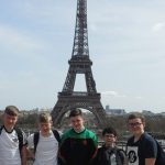 French language pupils at Eiffel Tower