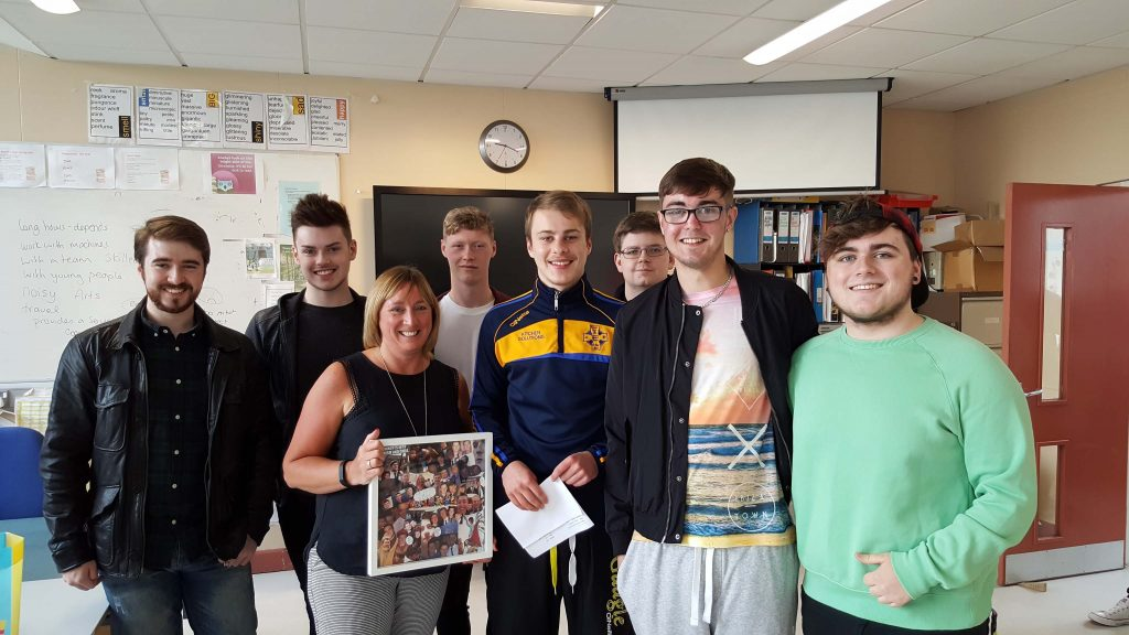 Mrs Crookes with the Religious Studies group