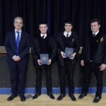 GCSE Prizewinners with Principal Mr Martin