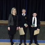 GCSE Prizewinners with Vice Principal Mrs Crookes