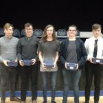 Students with awards at A2 Prizegiving 2016