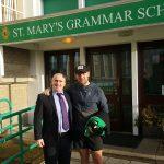 Jack McGarry with Mr Herron