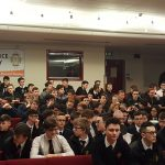A packed Lecture Theatre at St Mary's for the Post-election politician talkbalk event