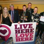 Students receiving Belfast City Litter Heroes Award