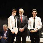 Prizewinners recieving awards