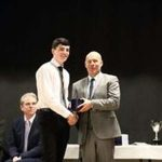 Prizewinner receiving award