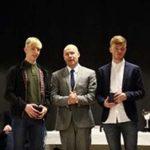 Prizewinners receiving awards