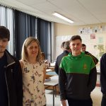Conor McCullough, Miss O'Convery, Canice Shepherd and Conor McCorry