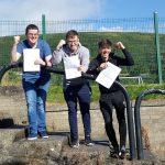Top achievers at A2 Fionntan Toner, David McNally and Carl Keenan