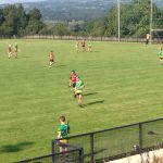 St Mary's team during the game