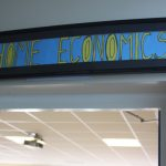 Sign for the Home Economics department