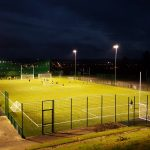 St Mary's hurling pitch under floodlights