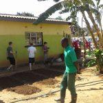 Inspecting the gardening work