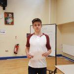 Jordan McDonald celebrates 4 A grades at AS Level