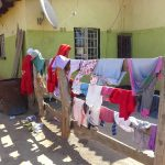 Laundry hanging to dry