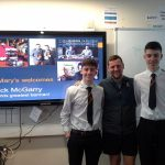Owen Crilly and Aaron Stewart with Jack McGarry