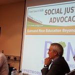 Pat Sheehan MLA Sinn Féin deep in thought beside Cllr Tim Attwood SDLP