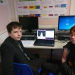 Pupils at computer