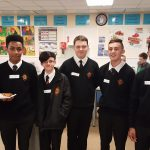 Students in the Home Economics department
