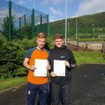 Tiarnan Murphy and Karl McAllister who will be going to St Mary's College in September