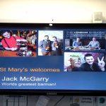 Welcome Banner for Jack's presentation