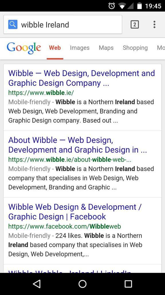 Mobile friendly warnings for Google search results