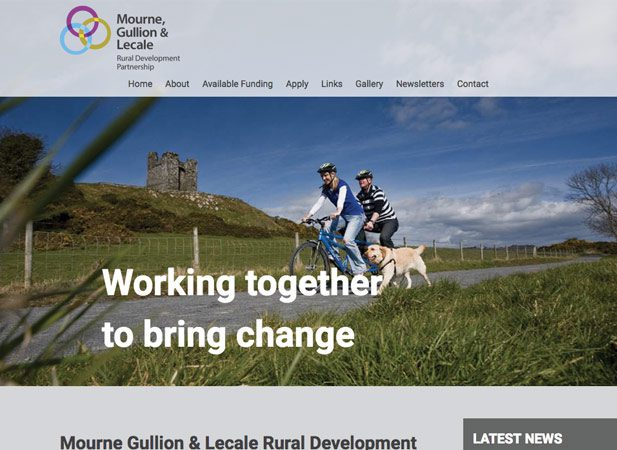 Mourne Gullion Lecale Website Design by Wibble