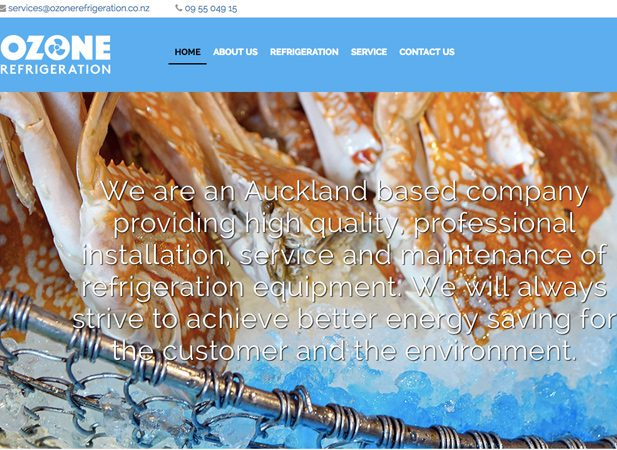 Wibble Web Design Gallery Ozone Refrigeration