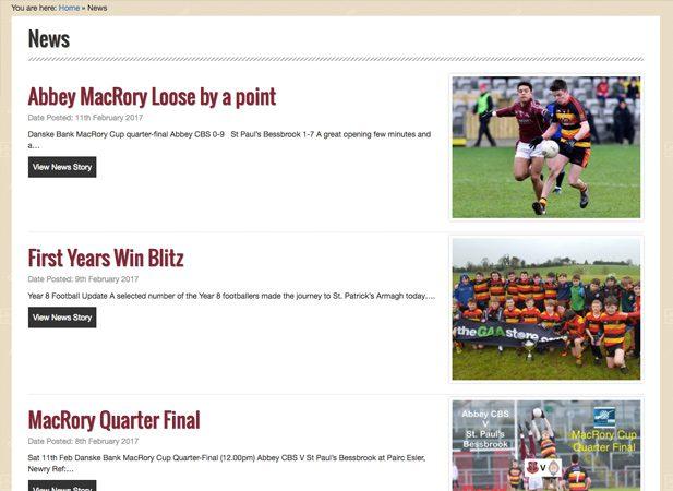 Abbey Grammar Newry Web Portfolio