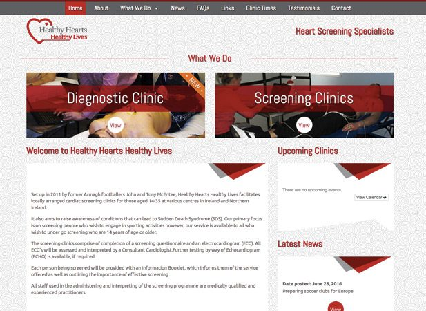 Healthy Hearts Healthy lives - Web Design Gallery