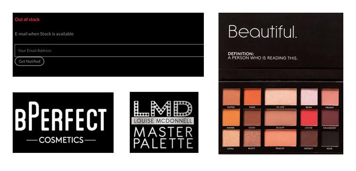 BPerfect Cosmetics – Custom WordPress development and design, Belfast