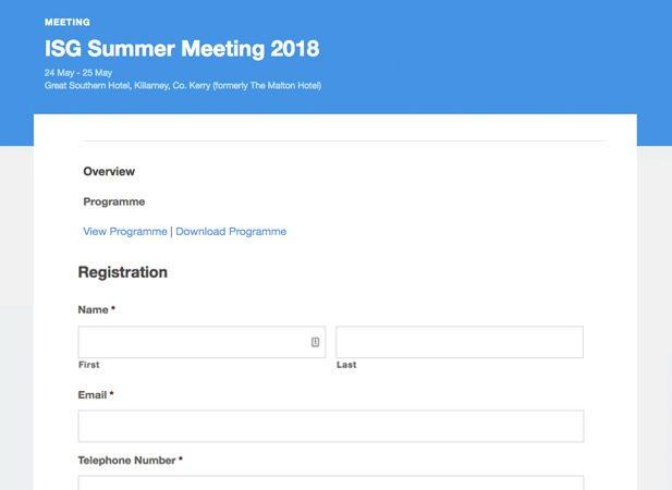 Event registration development WordPress