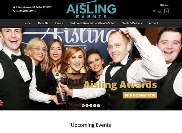 Aisling events is under the Wibble Rescue Package – WordPress management, support and hosting