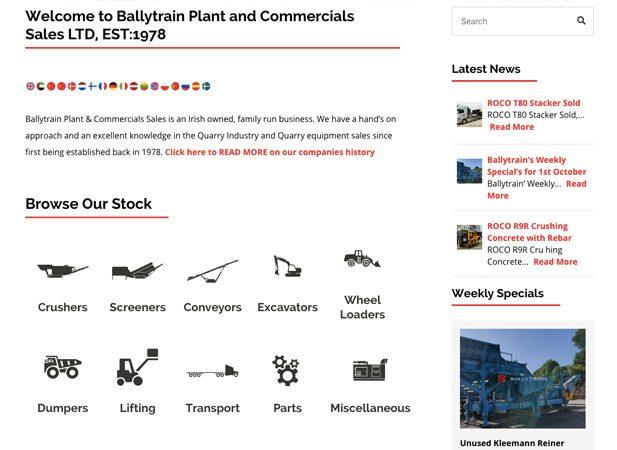 Ballytrain web design by Wibble Belfast | Full WordPress design and development