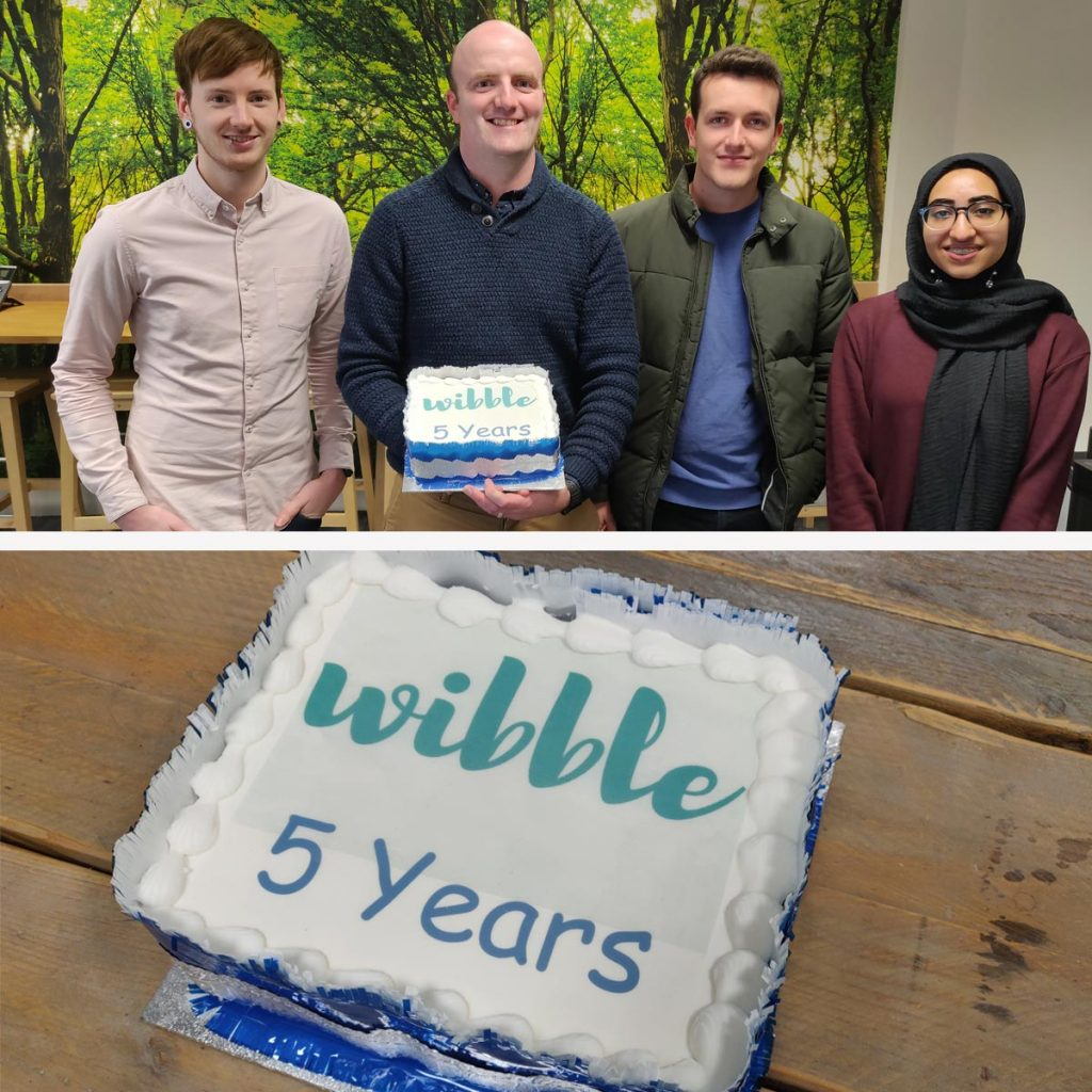 The current Wibble team at 5 years,