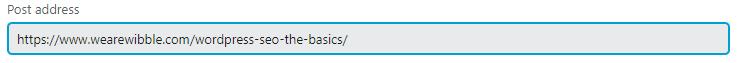 Image showing WordPress Post Address