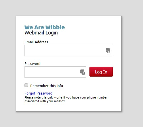 We Are Wibble WebMail login