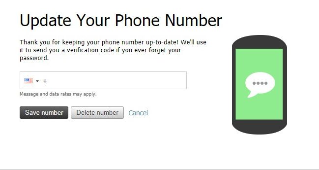 Phone Number Dialog box