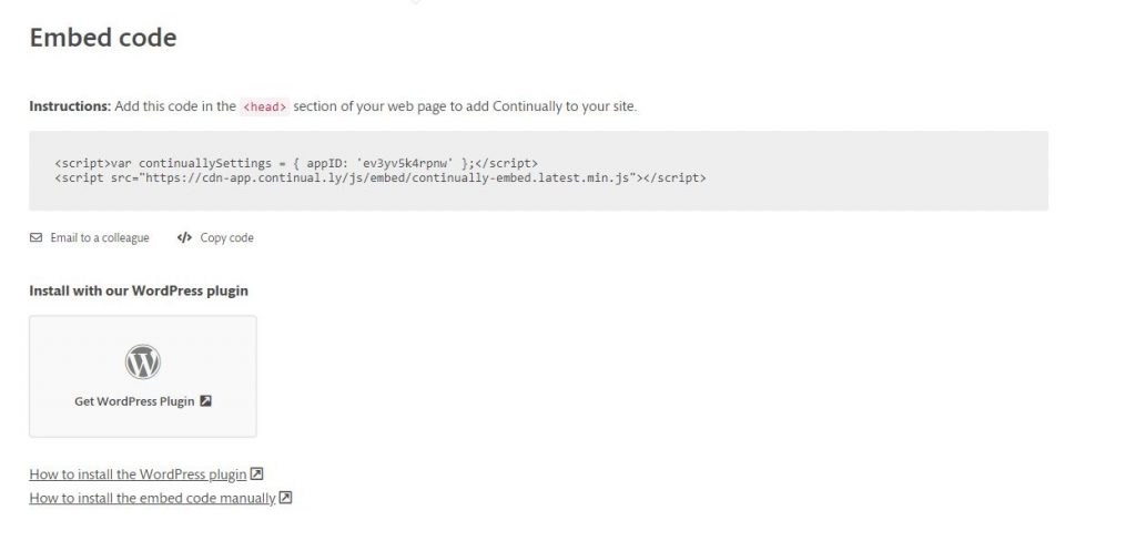 Blog: Continually Embedded Code Website