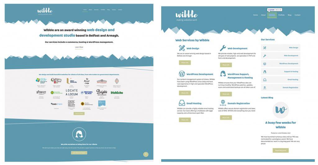 We Are Wibble Blog - Brand Refresh Part 2 - Website Redesign - Old website