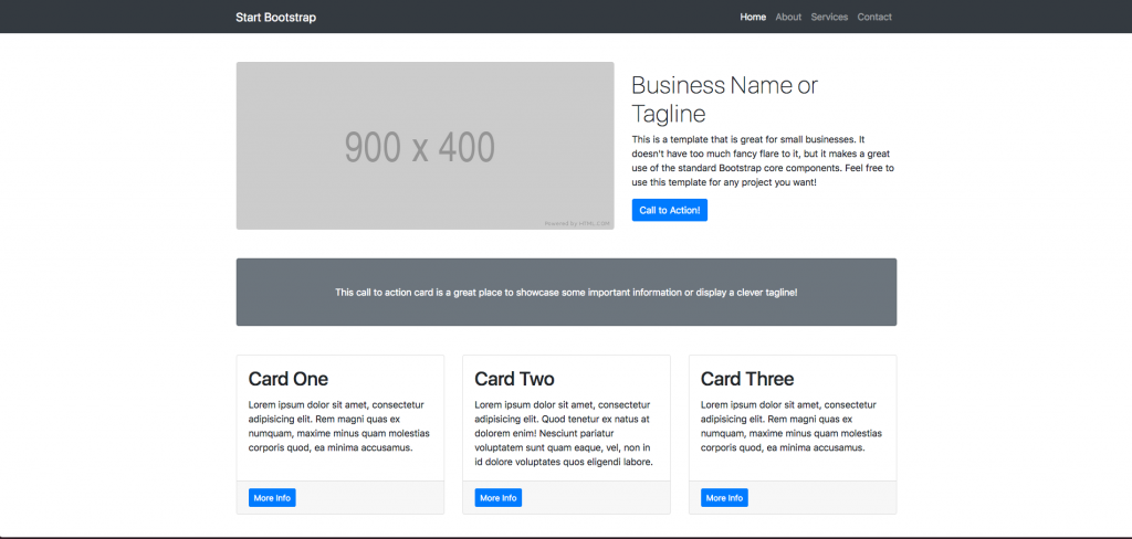 Bootstrap template site