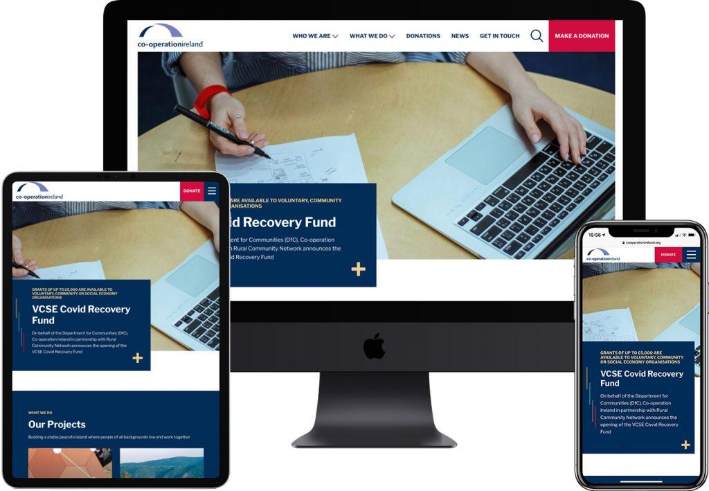 Co-operation Ireland by Wibble Web Design & Development